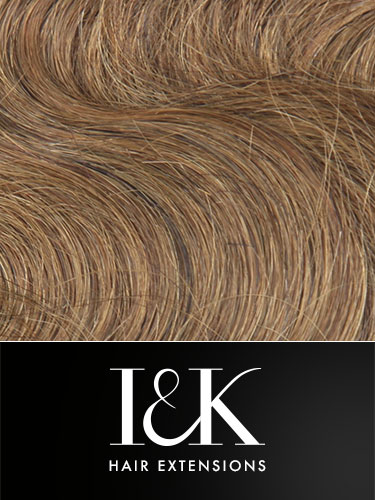I&K Gold Clip In Body Wave Human Hair Extensions - Full Head #6-Medium Brown 18 inch