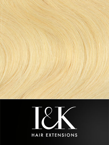 I&K Clip In Human Hair Extensions - Body Wave - Full Head #613-Lightest Blonde 18 inch
