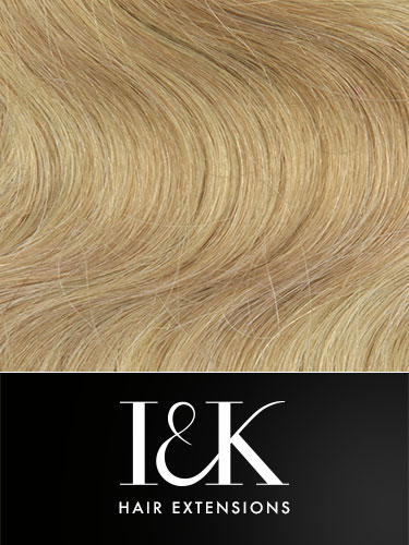 I&K Clip In Human Hair Extensions - Body Wave - Full Head #18/613 18 inch