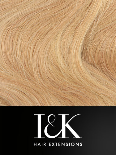 I&K Gold Clip In Body Wave Human Hair Extensions - Full Head #24/27 22 inch