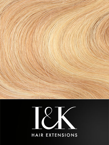 I&K Gold Clip In Body Wave Human Hair Extensions - Full Head #27/613 18 inch