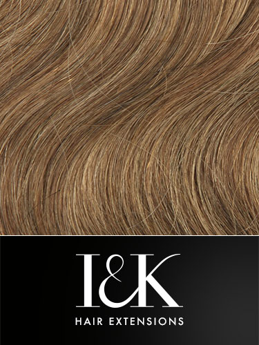 I&K Gold Clip In Body Wave Human Hair Extensions - Full Head #4/27 18 inch