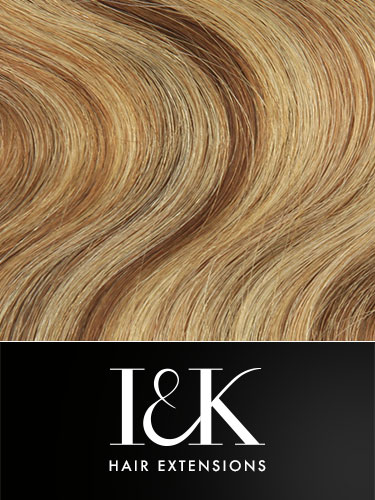 I&K Gold Clip In Body Wave Human Hair Extensions - Full Head #6/613 18 inch