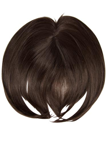 I&K Clip In Synthetic Hair Fringe #R6-Mid Brown