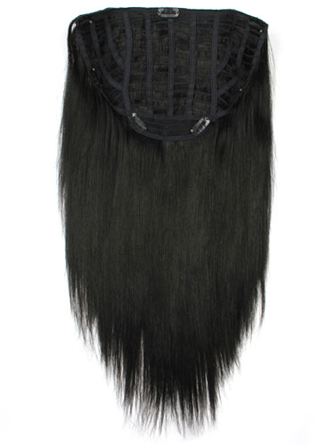 I&K Instant Clip In Human Hair Extensions - Full Head #1B-Natural Black 18 inch