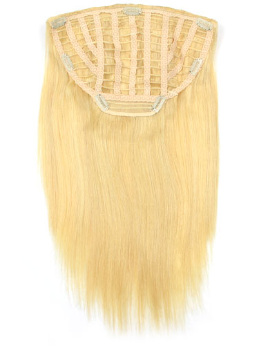 I&K Instant Clip In Human Hair Extensions - Full Head #22/613 18 inch