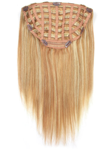 I&K Instant Clip In Hair Extensions - Full Head #27/613 18 inch
