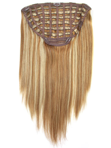 I&K Instant Clip In Hair Extensions - Full Head #6/613 18 inch