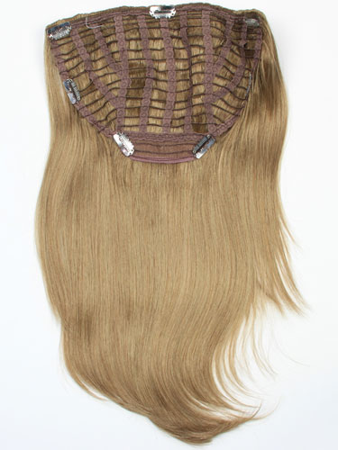 I&K Instant Clip In Synthetic Hair Extensions - Full Head #18-Ash Blonde 18 inch