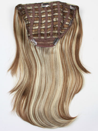 I&K Instant Clip In Synthetic Hair Extensions - Full Head #6/613 18 inch
