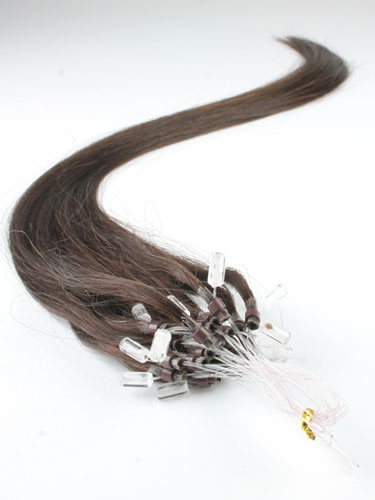 I&K Micro Loop Ring Human Hair Extensions #2-Darkest Brown 18 inch