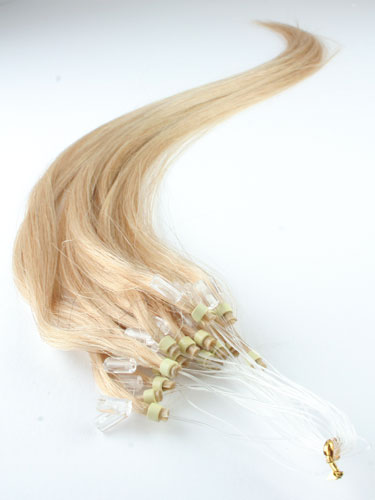 I&K Micro Loop Ring Human Hair Extensions #24-Light Blonde 22 inch