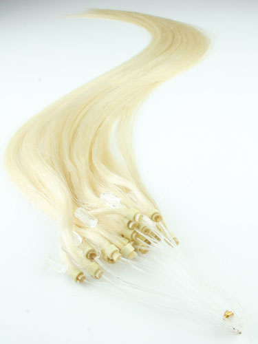 I&K Micro Loop Ring Human Hair Extensions #613-Lightest Blonde 18 inch