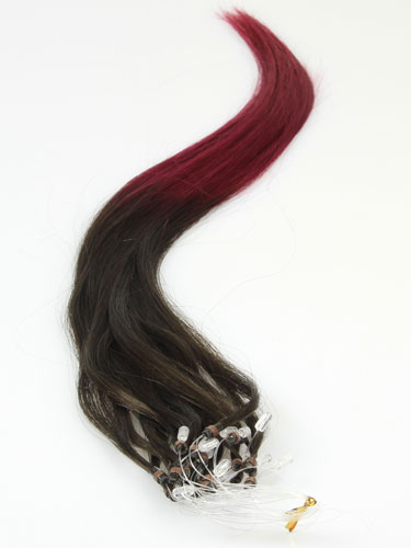 I&K Micro Loop Ring Human Hair Extensions #T2/Burg 18 inch