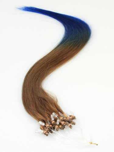 I&K Micro Loop Ring Human Hair Extensions #T6/Blue 18 inch