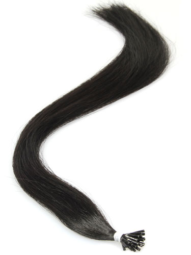 I&K Remy Pre Bonded Stick Tip Hair Extensions #1B-Natural Black 22 inch
