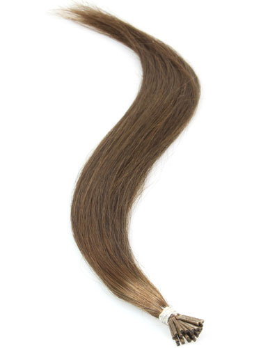 I&K Remy Pre Bonded Stick Tip Hair Extensions #4-Chocolate Brown 18 inch