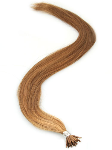 I&K Remy Pre Bonded Stick Tip Hair Extensions #6-Medium Brown 18 inch