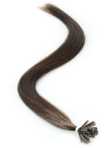 I&K Remy Pre Bonded Nail Tip Hair Extensions #2-Darkest Brown 18 inch
