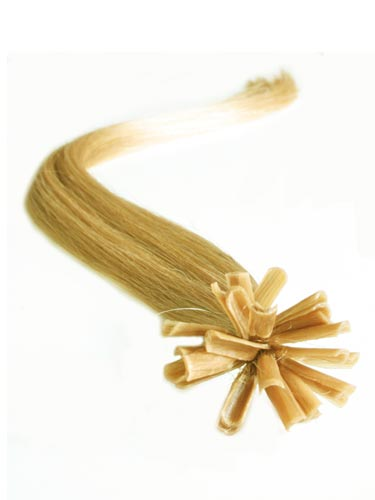 I&K Pre Bonded Nail Tip Human Hair Extensions #12-Light Golden Brown 14 inch