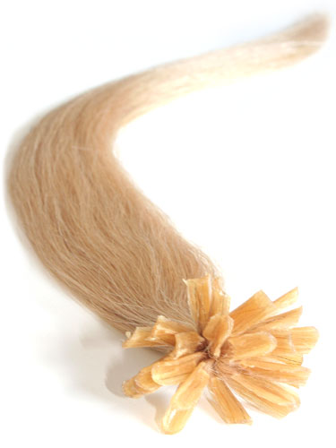 I&K Pre Bonded Nail Tip Human Hair Extensions #24-Light Blonde 18 inch