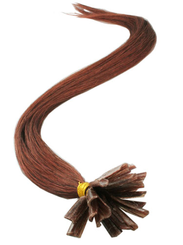 I&K Pre Bonded Nail Tip Human Hair Extensions #33-Rich Copper Red 18 inch