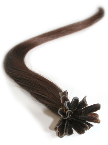 I&K Pre Bonded Nail Tip Human Hair Extensions #4-Chocolate Brown 14 inch