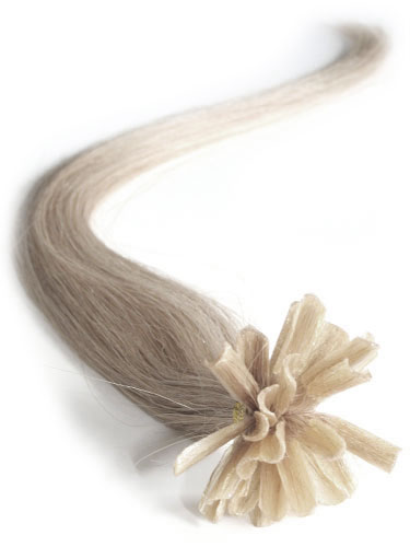 I&K Pre Bonded Nail Tip Human Hair Extensions #18-Light Ash Blonde 14 inch