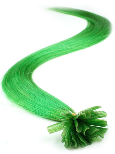 I&K Pre Bonded Nail Tip Human Hair Extensions #Green 22 inch