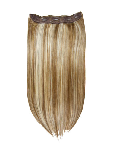 I&K Clip In Synthetic One Piece Hair Extensions #6/613 24 inch