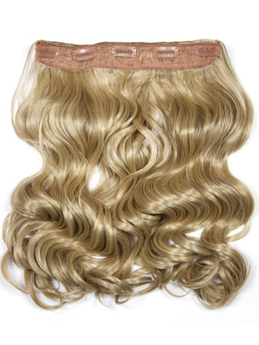 I&K Clip In Synthetic One Piece Hair Extensions - Body Wave 24 inches 180g #18/22 24 inch
