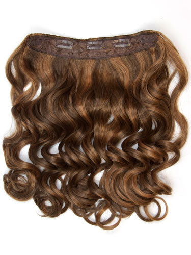 I&K Clip In Synthetic One Piece Hair Extensions - Body Wave 24 inches 180g #4/27 24 inch