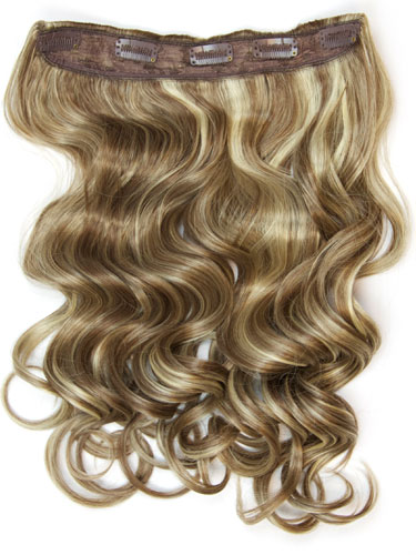 I&K Clip In Synthetic One Piece Hair Extensions - Body Wave 24 inches 180g #6/613 24 inch