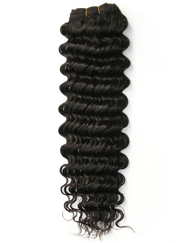 I&K Deep Wave Weave Human Hair Extensions #1B-Natural Black 22 inch