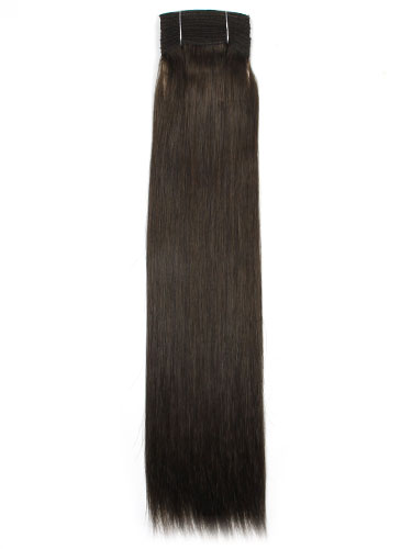 I&K Cuticle Weft Remy Hair Extensions #2-Darkest Brown 18 inch