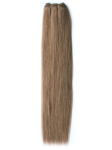 I&K Silky Weaves Human Hair Extensions #10-Medium Ash Brown 14 inch