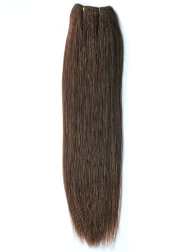 I&K Gold Weave Straight Human Hair Extensions #4-Chocolate Brown 14 inch