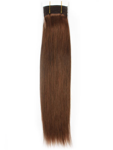 I&K Gold Weave Straight Human Hair Extensions #4R-Reddish Chocolate Brown 18 inch