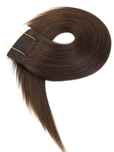 I&K Gold Weave Straight Human Hair Extensions #2-Darkest Brown 14 inch