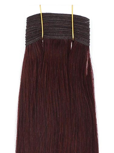 I&K Gold Weave Straight Human Hair Extensions #32-Dark Reddish Wine 22 inch