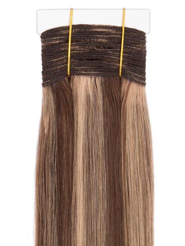 I&K Gold Weave Straight Human Hair Extensions #4/27 18 inch