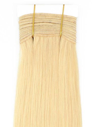 I&K Gold Weave Straight Human Hair Extensions #613-Lightest Blonde 26 inch