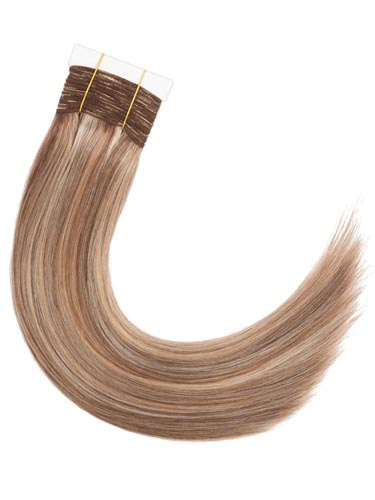 I&K Gold Weave Straight Human Hair Extensions #6/613 18 inch