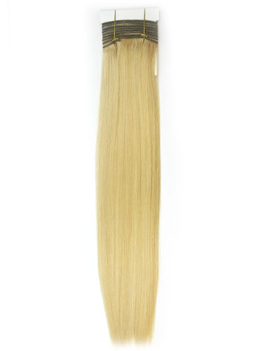 I&K Silky Weaves Human Hair Extensions #24/613 14 inch