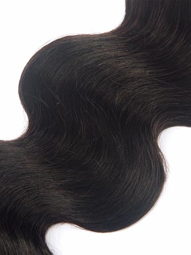 I&K Gold Weave Body Wave Human Hair Extensions #1B-Natural Black 18 inch