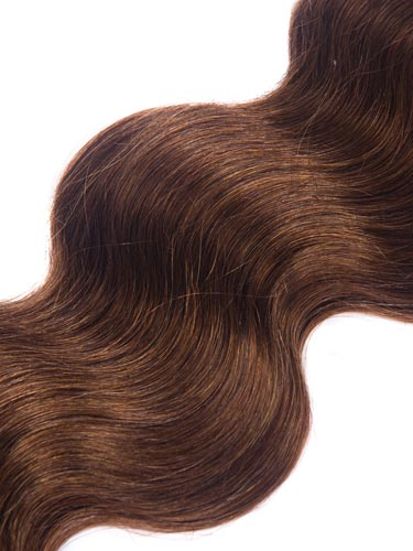 I&K Gold Weave Body Wave Human Hair Extensions #4-Chocolate Brown 18 inch