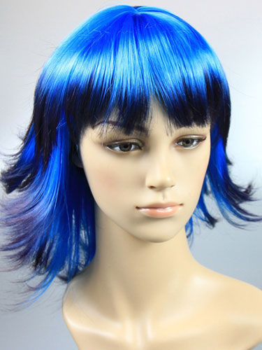 I&K Party Wig Double Colour #Double Blue