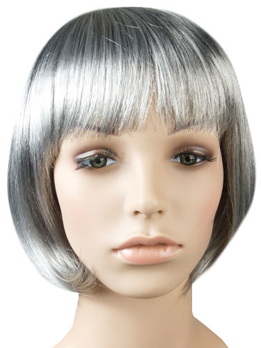 I&K Party Wig Single Colour #Grey