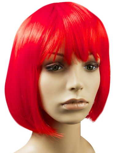 I&K Party Wig Single Colour #Red