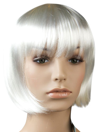 I&K Party Wig Single Colour #White